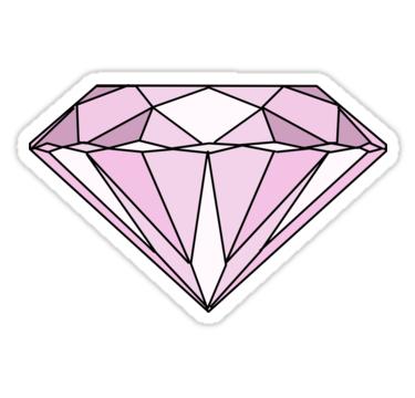 Pink Diamond Sticker By Haleyerin In 2021 Pink Diamond Bandaid Sticker Printable Stickers