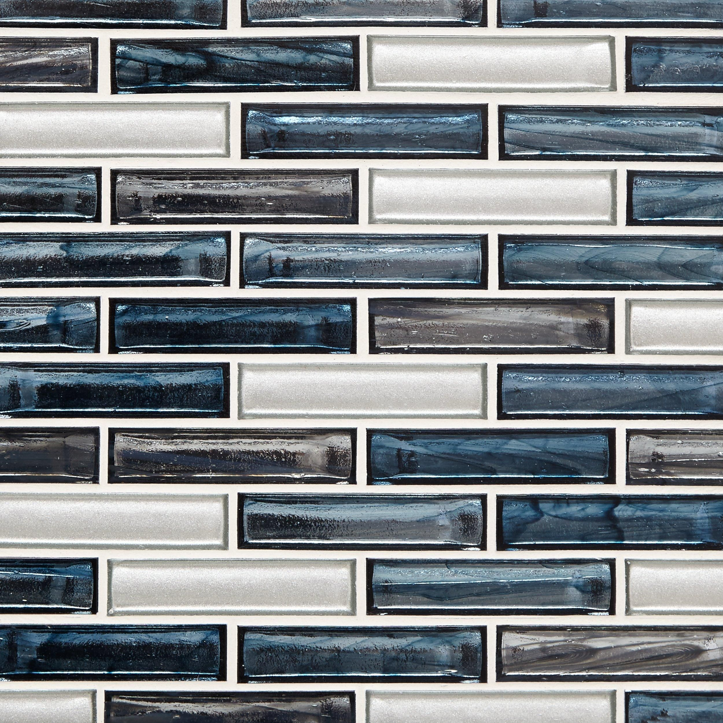- Celestial Shimmer 1 X 4 In. Brick Glass Mosaic (With Images
