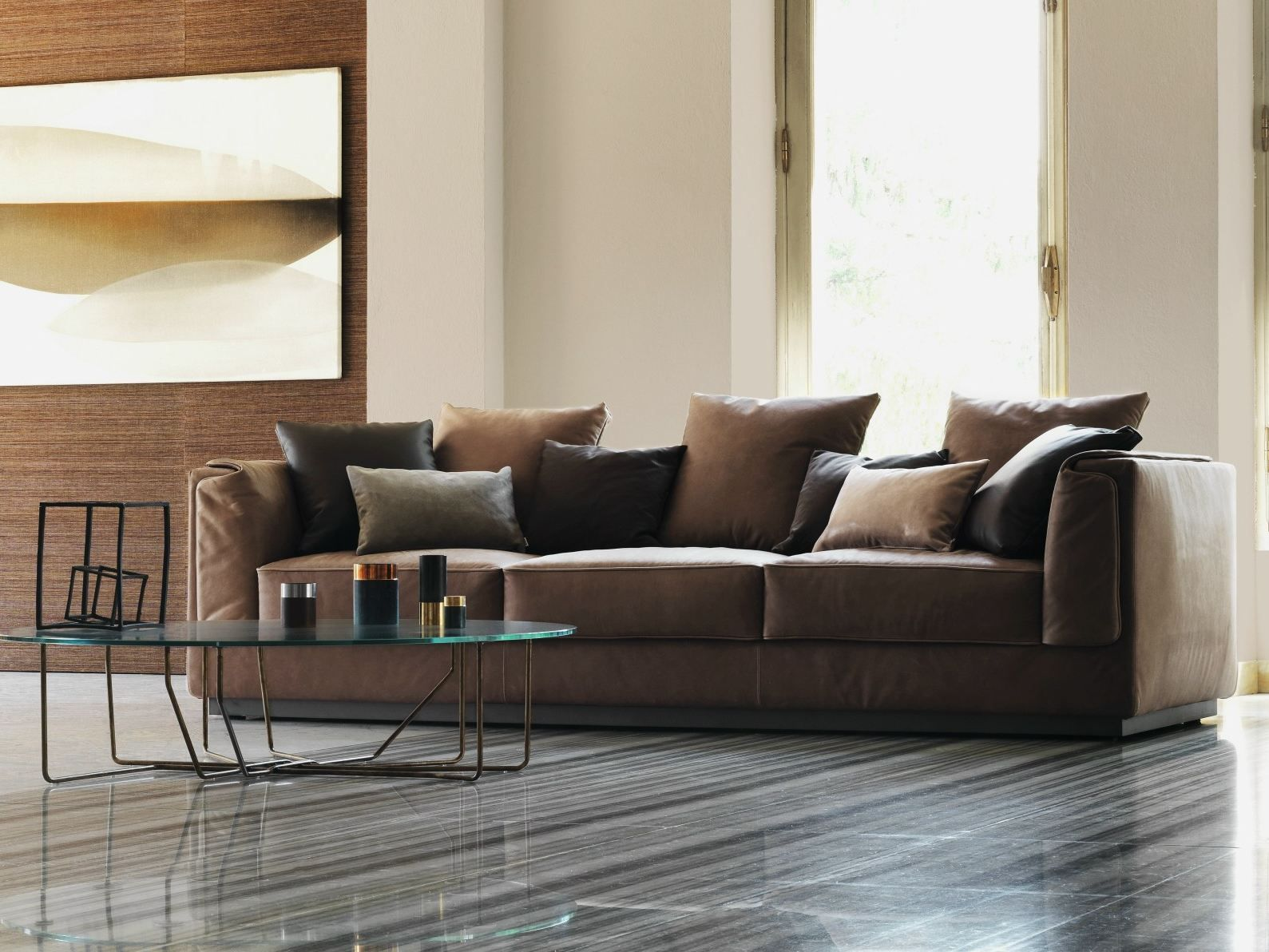 latest sofa designs for living room%0A GENTLEMAN   seater sofa Gentleman Collection by Flou design Carlo Colombo