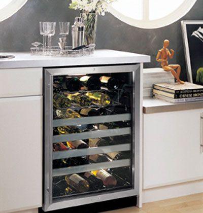 Sleek Wine Refrigeration Kitchen Wine Fridge Home Decor Dining Room Bar