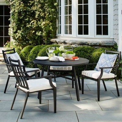 Cool Fairmont 2Pk Stationary Patio Dining Chair Linen Gmtry Best Dining Table And Chair Ideas Images Gmtryco