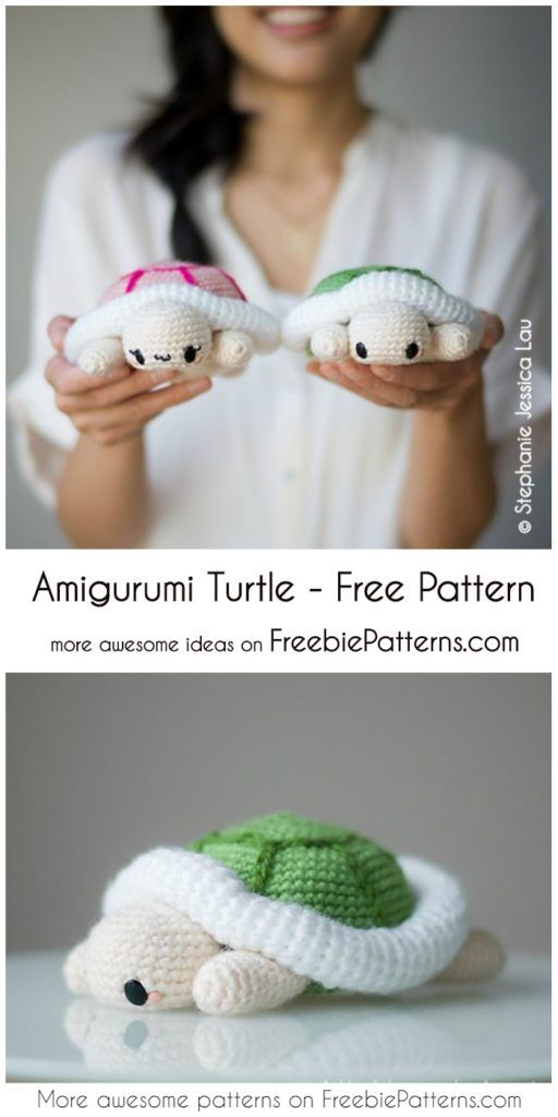 Sweet Amigurumi Turtle - Free Chrochet Pattern #crochetturtles