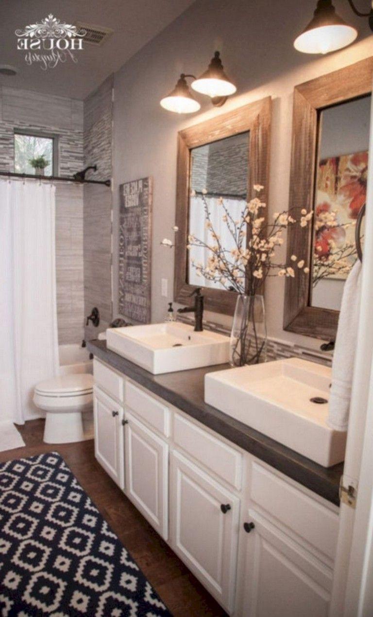 48 smart modern farmhouse bathroom remodel ideas modern
