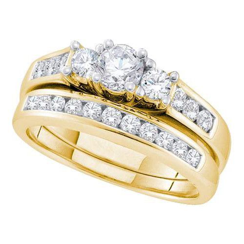 1 CT-Diamond 1/3CT-CRD BRIDAL SET