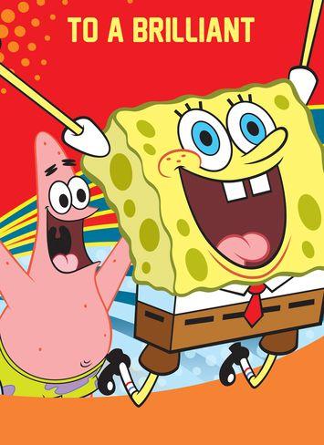 Personalised Birthday Greeting Card Spongebob Squarepants To A Brilliant Brother Sp Spongebob Birthday Party Spongebob Birthday Personalized Greeting Cards