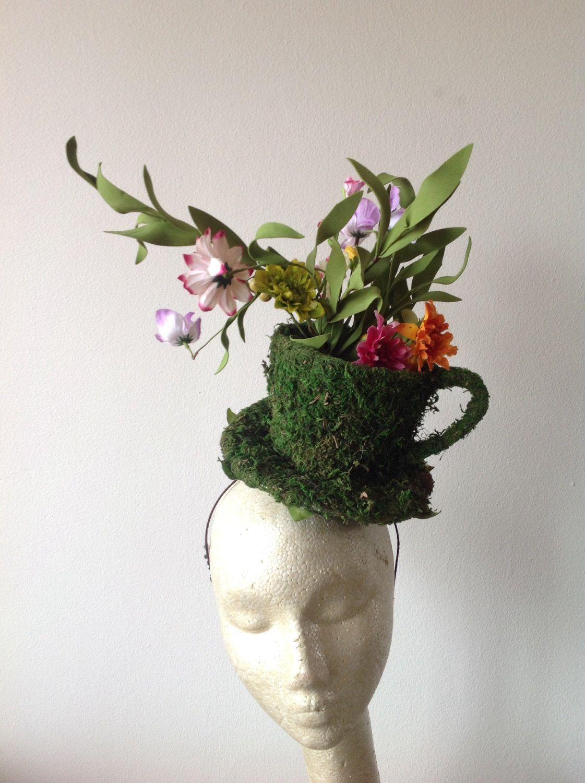 Kentucky derby-Mad hatter Fascinator-derby-Flower Tea cup headband-Floral  fascinator- Headdress New York- Derby- Fascinator- brookllyn derby by  doramarra on ... 3e64640d2b2