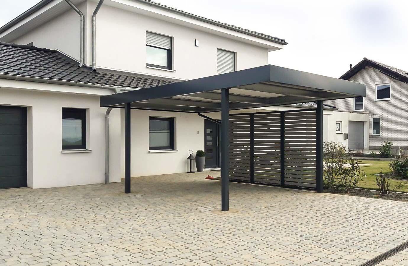 Carport Von Siebau Mit Wandfeld Sichtschutz Carport Carport Modern Garage Und Hobbyraum