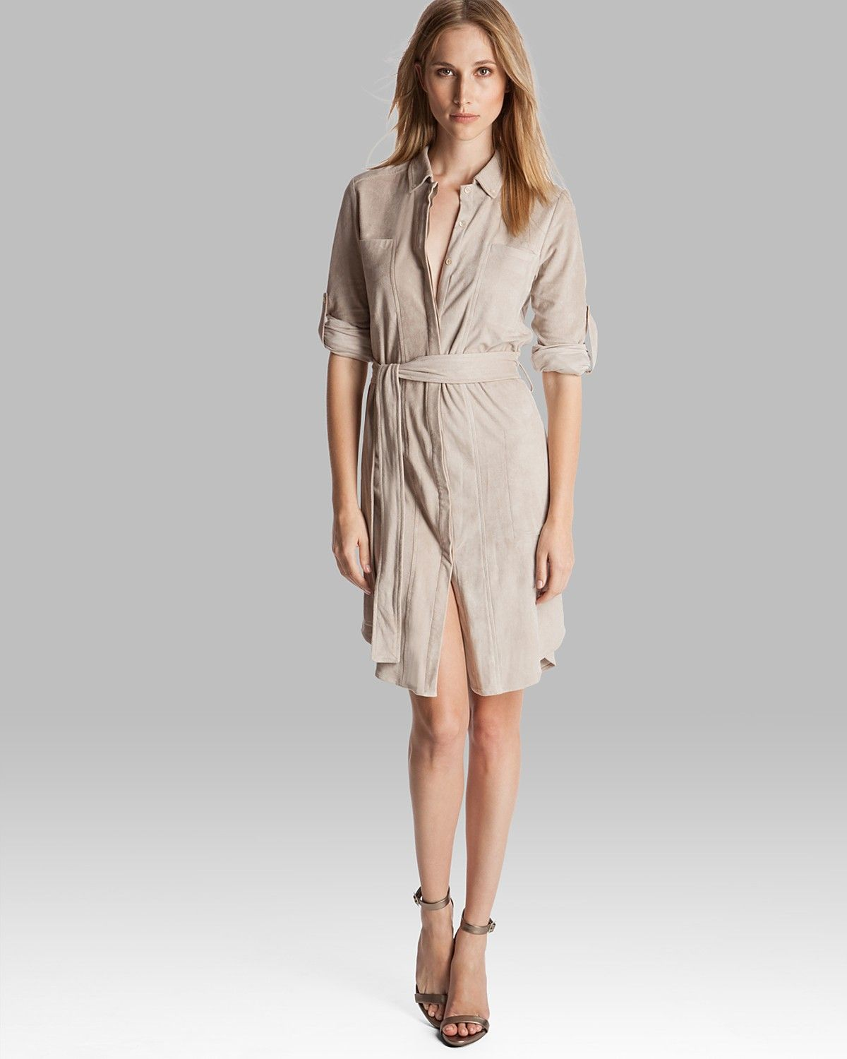 23a40dcfbec4e HALSTON HERITAGE Shirt Dress - Belted