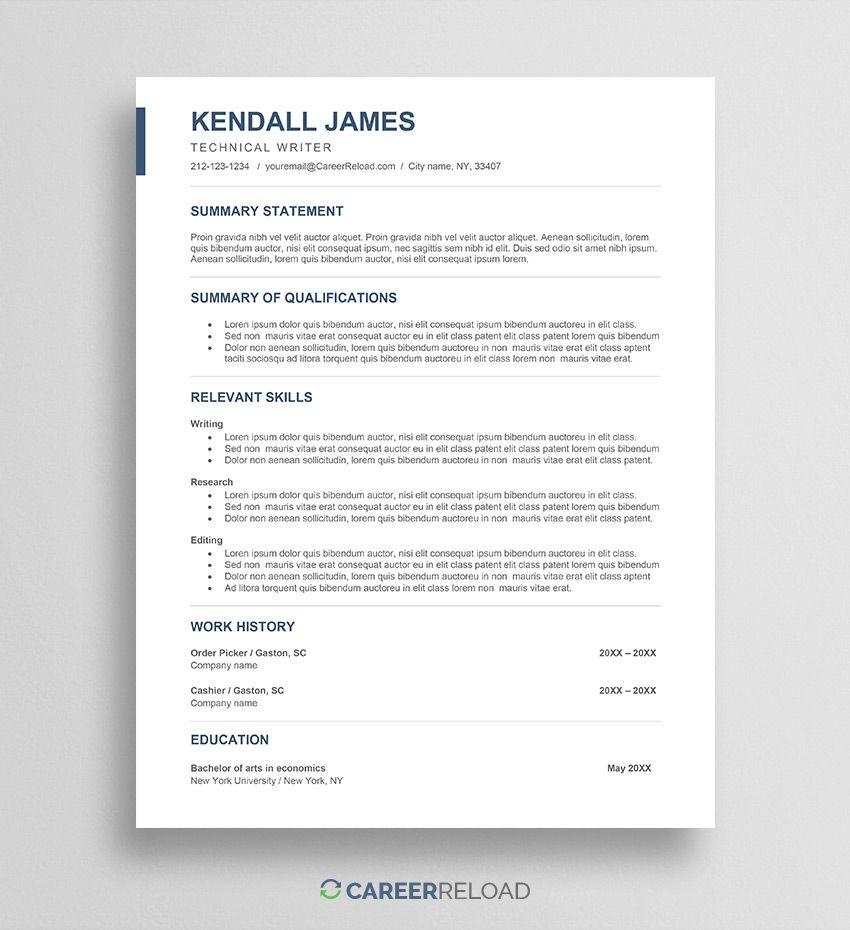 Free Career Change Resume Download Career Change Resume Free Resume Template Word Resume Template Free Career change resume template word
