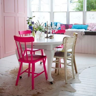 Collect Shabby Chic Furniture From Junk Shops And Paint Bright Colours.  Cover Floors With Soft Nice Ideas
