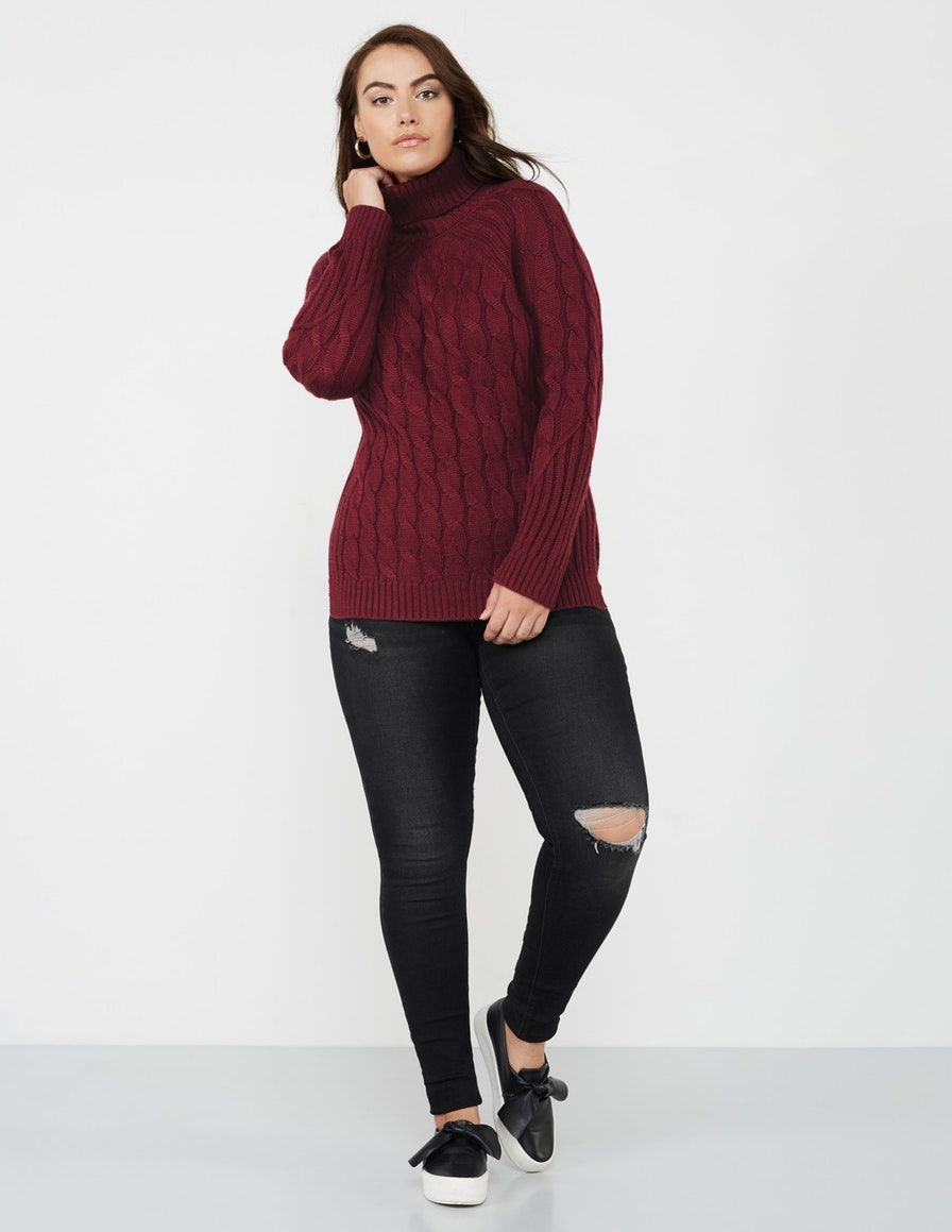 Cable knit roll neck jumper by annalisa shop now at
