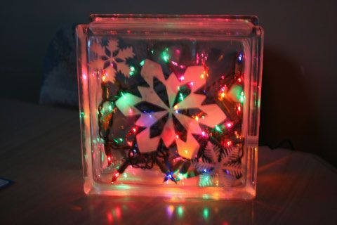 glass block christmas decoration