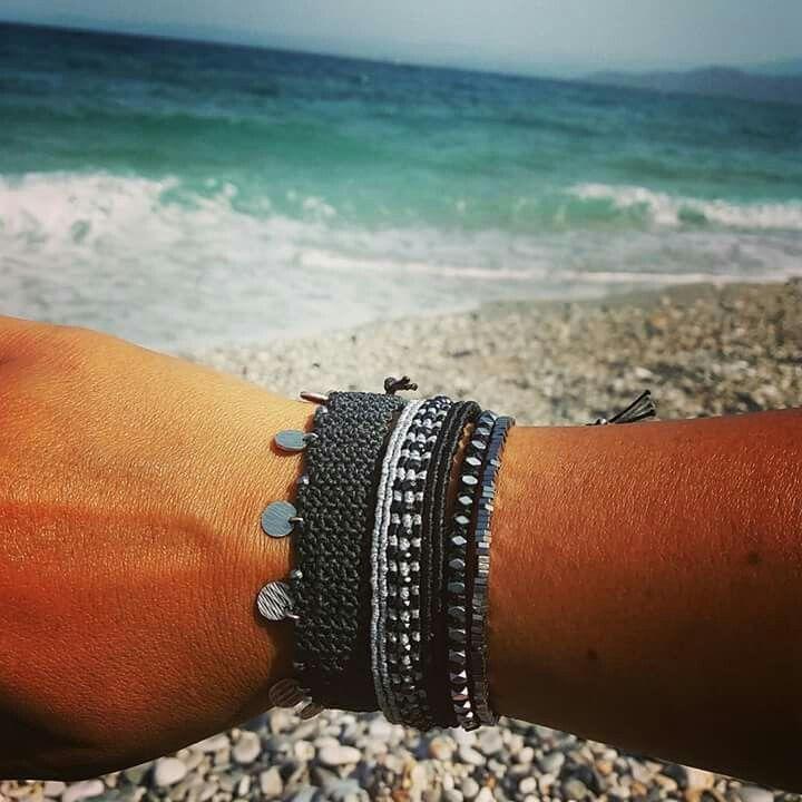 Silver COINS EDGY Bracelet + CLEOPATRA Bracelet with HEMATITE + HEMATITE Bracelets