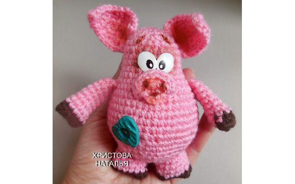 вязаная крючком свинка схема Pig Knit And Crochet вязание
