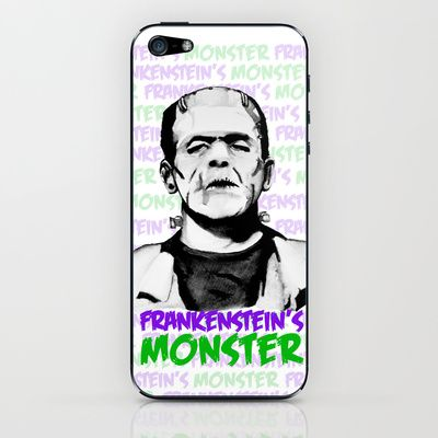 Frankensteins Monster Colour iPhone & iPod Skin by Noelle Fontaine - $15.00