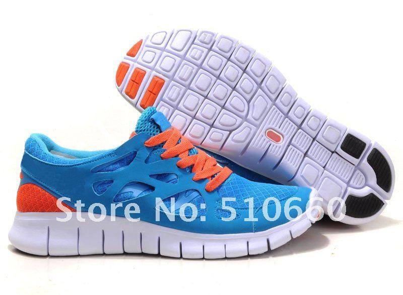 Womens Nike Running Shoes Free Run+ 2 Blue Orange Sky