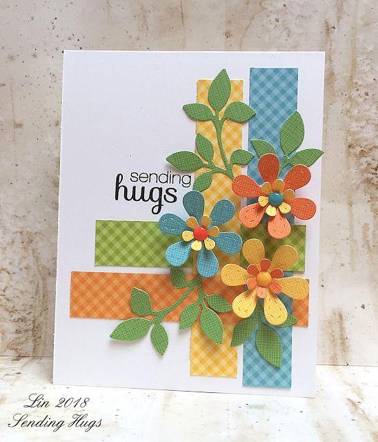 Looking Back - My Favorite Cards of 2018 (Sending Hugs) #flowercards