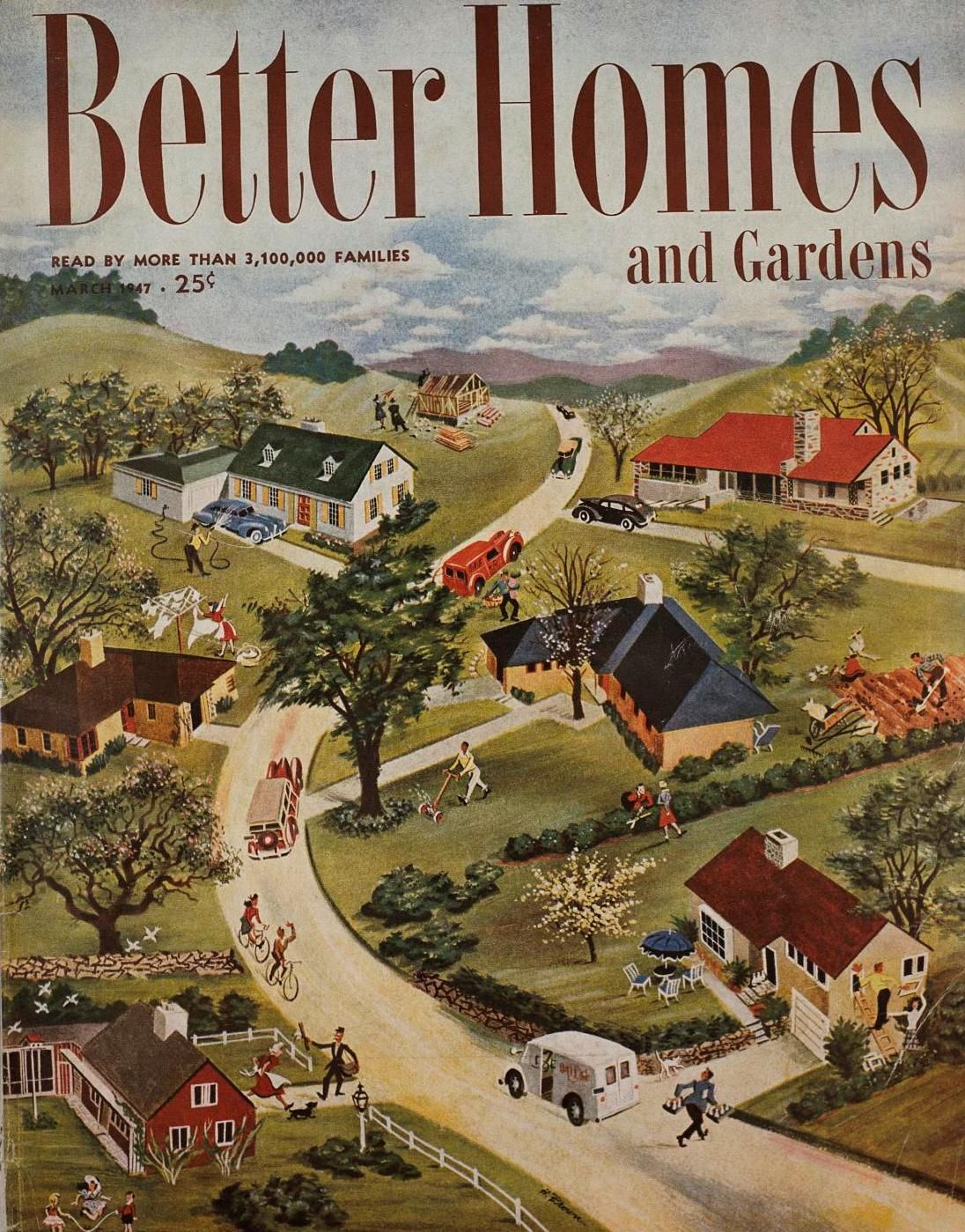 Vintage bhg covers march1947 a special memory for me Better homes and gardens current issue