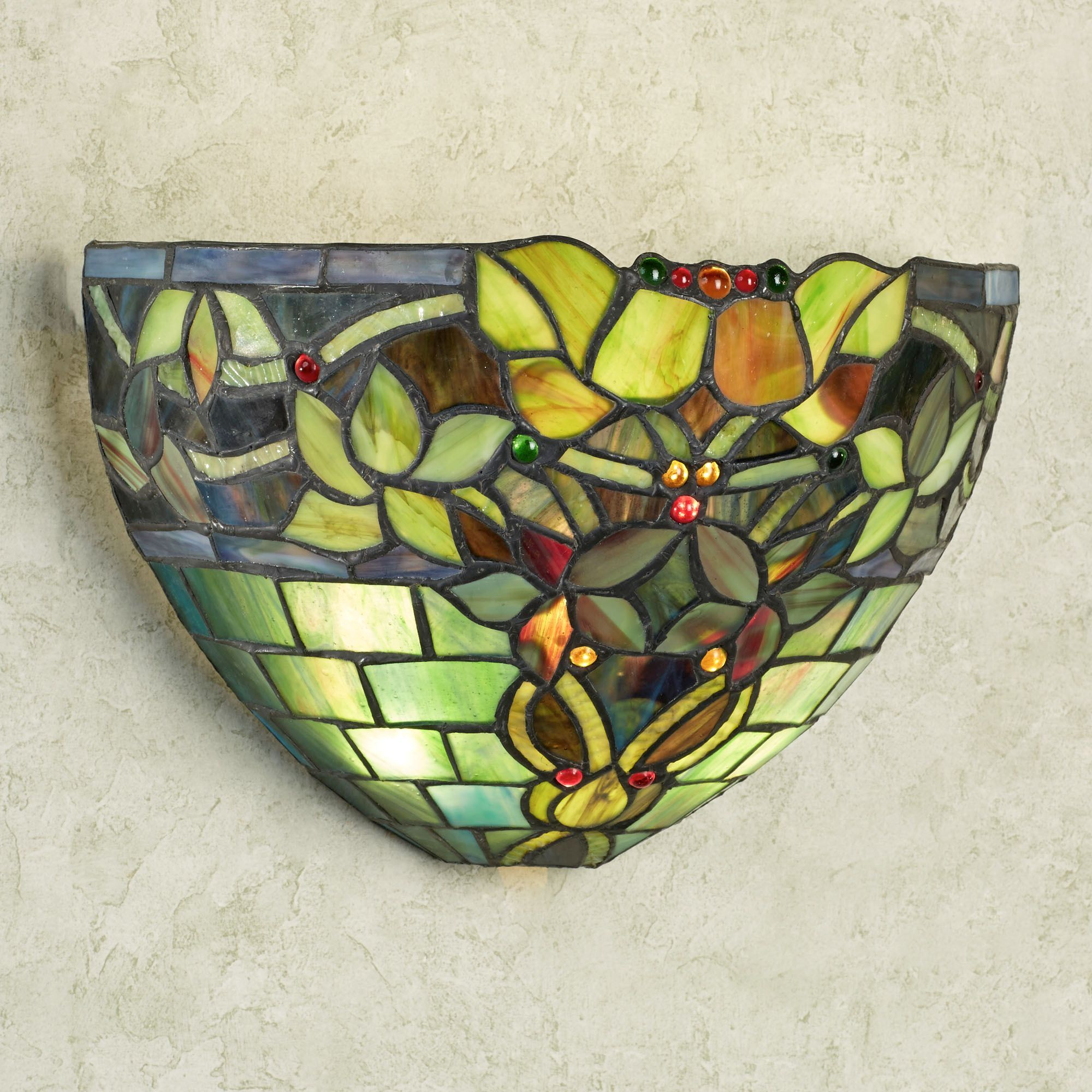 southwest wall led sconce austyn glass sconces stained