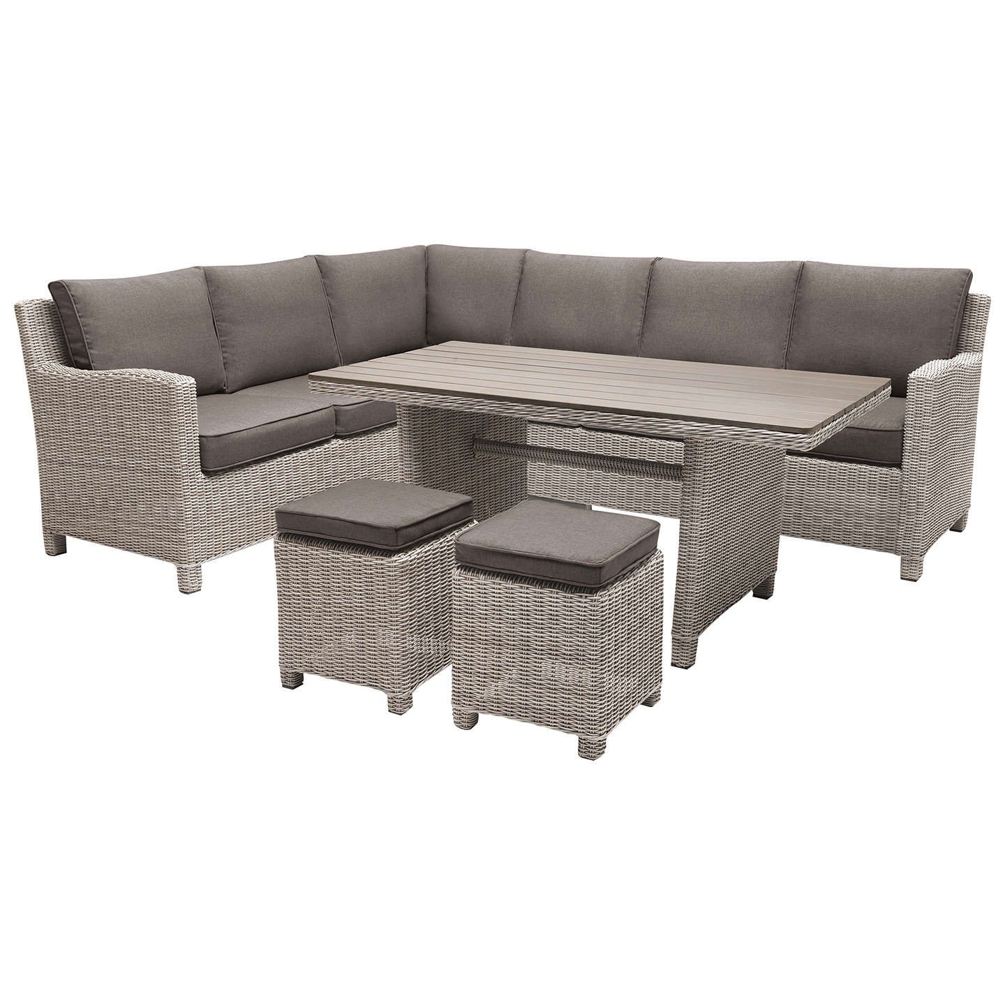 Kettler Paros 8 Seater Garden Dining Table And Chairs Set Grey: KETTLER Palma 8 Seater Garden Corner Lounging Table And