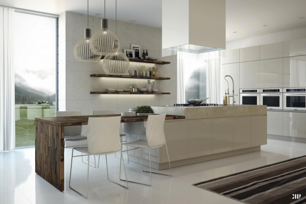 Mesas de cocina o comedor de dise o moderno tendencias for Cocinas espectaculares modernas