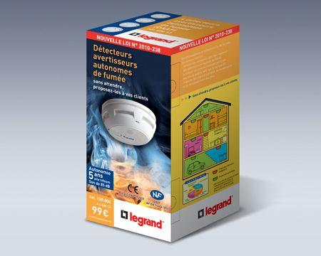 Legrand - Packaging détecteurs de fumée