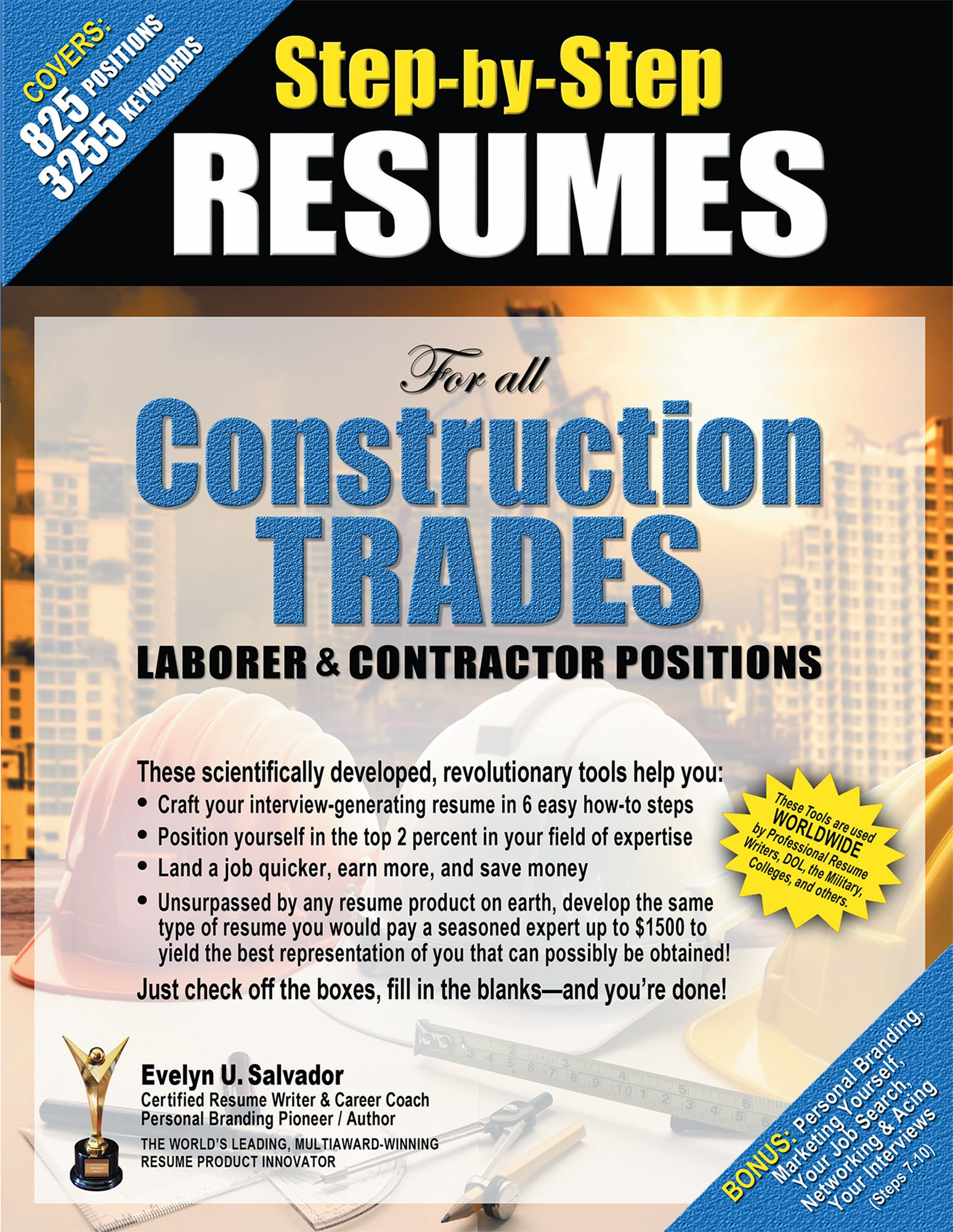 Step By Step Resume Stepbystep Resumes For All Construction Trades Laborer .