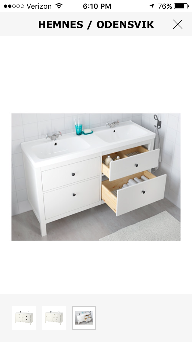 Ikea Hemnes 55 Inch Double Sink Ikea Bathroom Vanity White