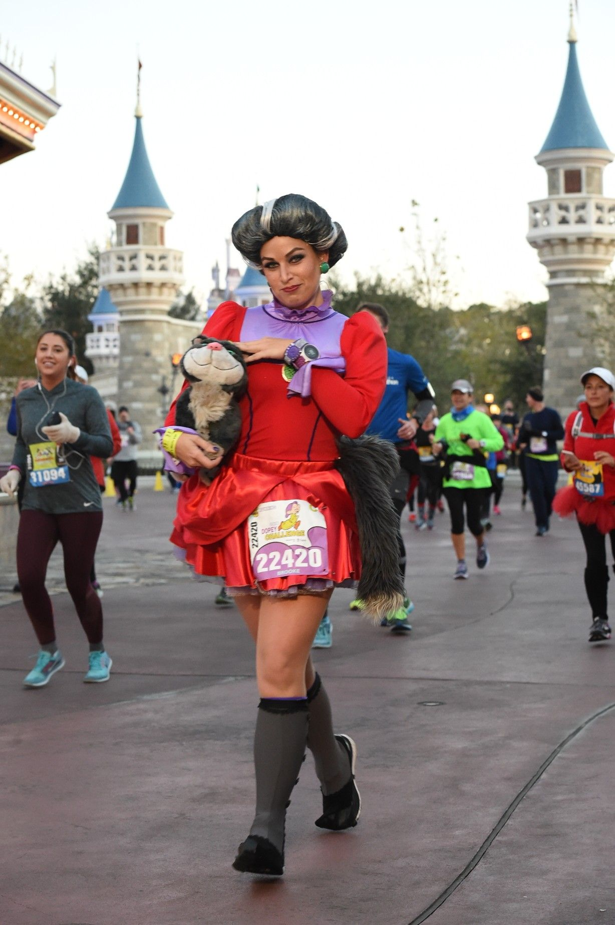 Lady Tremaine Running Costume With Lucifer Disney Running Outfits Run Disney Costumes Disney Princess Outfits