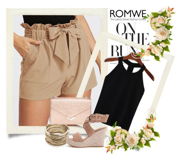 """""""romwe2"""" by gold-phoenix ❤ liked on Polyvore featuring Sole Society and Jimmy Choo"""