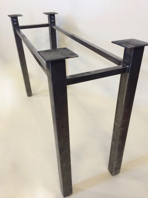 Metal Table Legs Or Metal Table Base Coffee Table Console Table Dining Table Or More Custom Dimensions And Finishes Available With Images Steel Table Legs Metal Table Base Iron Table Legs