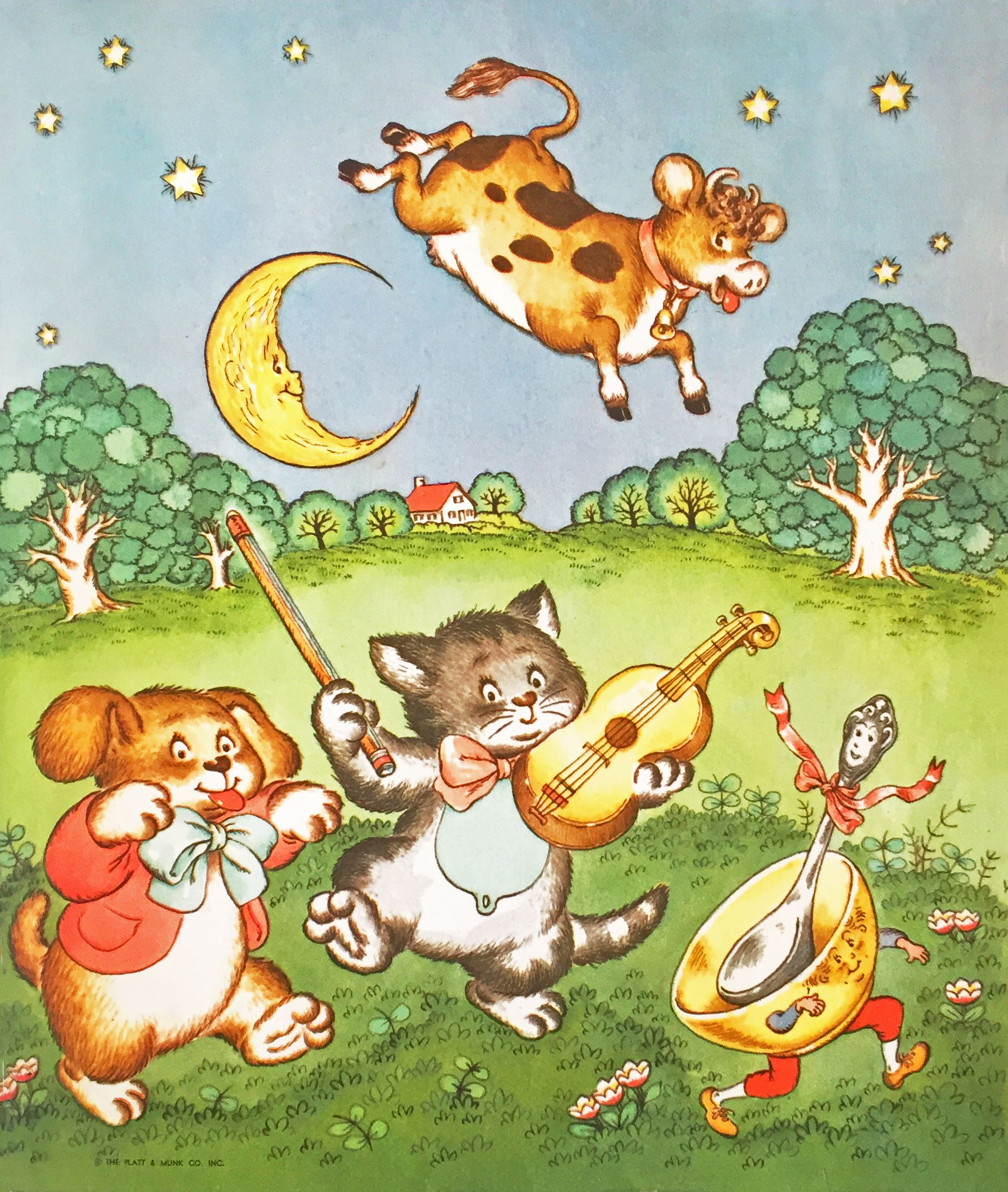 Hey Diddle Diddle, from My Brimful Book, 1960 Cats Hey