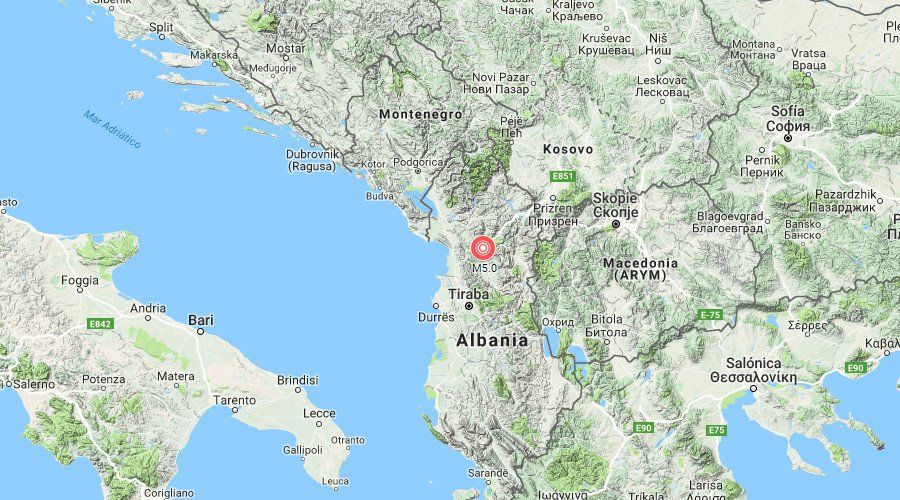 Magnitude 5 0 Earthquake Strikes Albania No Injuries Reported Earthquake Pernik Blagoevgrad