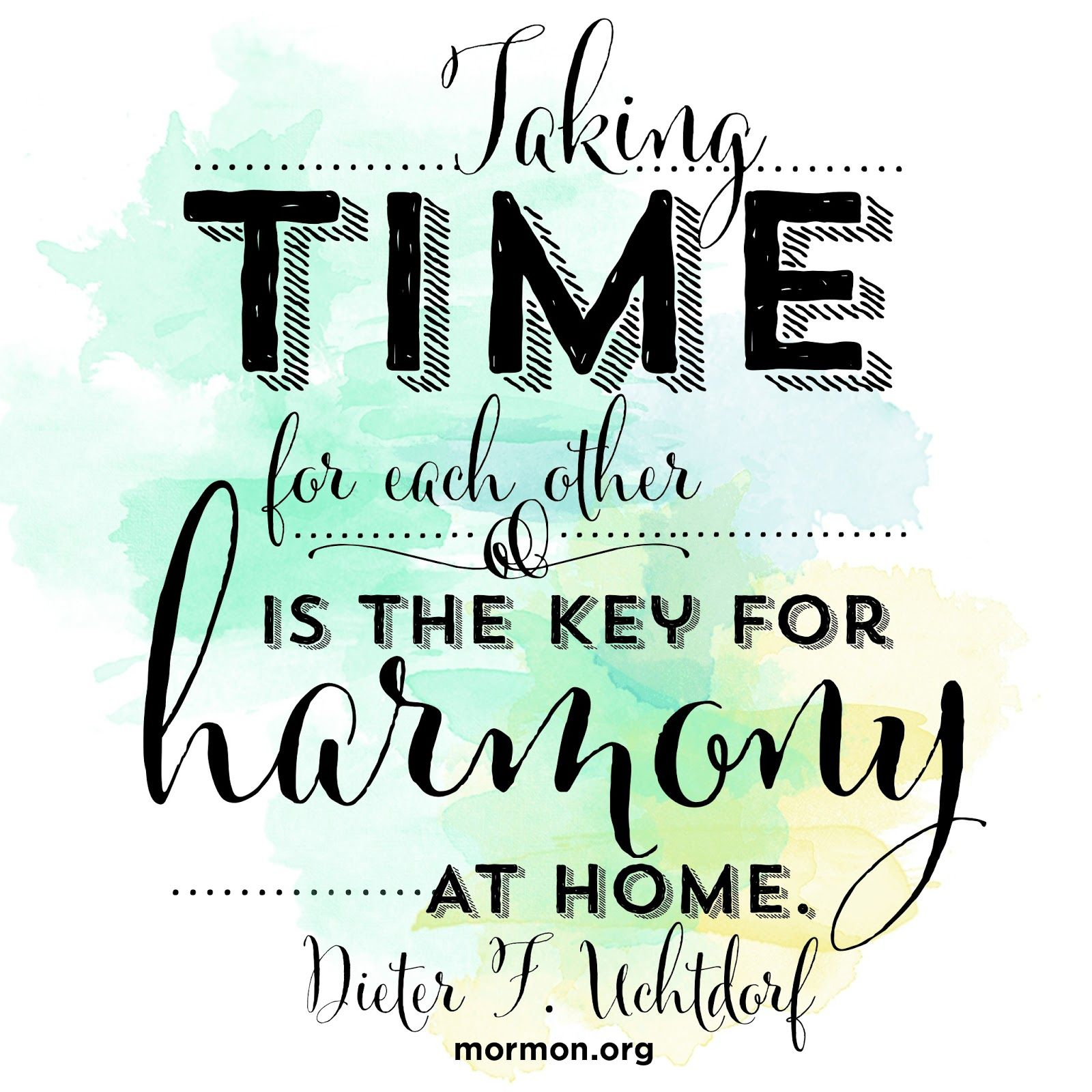 Lds Quotes On Family Home Evening: Rhonna DESIGNS: Taking Time For Each Other Is The Key For
