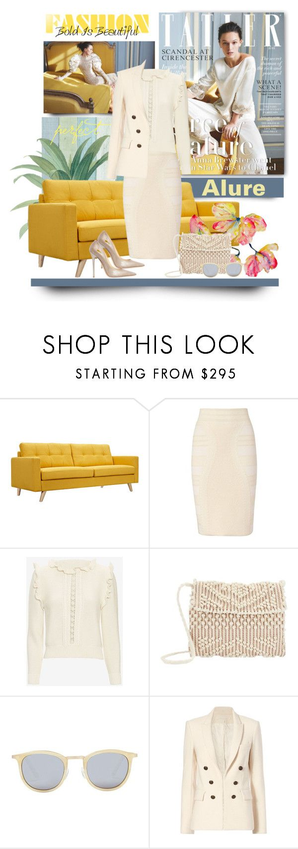 """""""Brights & Off-Whites"""" by jacque-reid ❤ liked on Polyvore featuring Dot & Bo, Alexander McQueen, STELLA McCARTNEY, Antonello, Smoke & Mirrors, Veronica Beard and Jimmy Choo"""