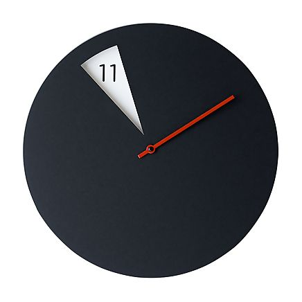 Horloge Murale Design Freakish Noir Rouge Sabrina Fossi Visuel