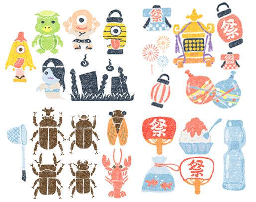 かわいい8月イラスト無料素材 August Of Japan 夏 イラスト 手書き 夏 デザイン イラスト 夏祭り イラスト