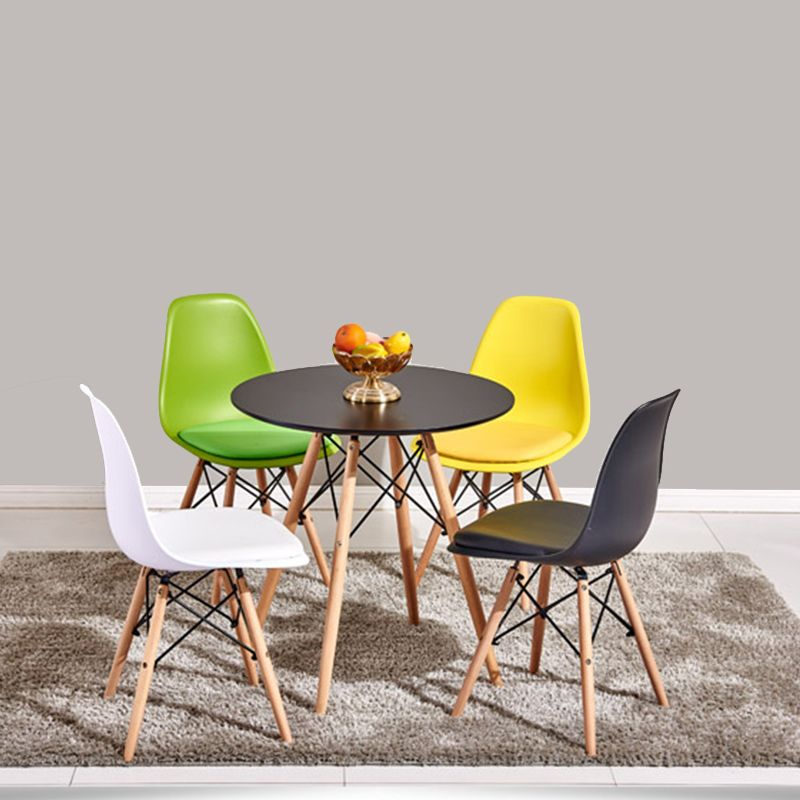 Superb Fashion Dining Chair Warm Seat Beech Wood Meeting Room Leisure Side Office  Conference Dining Chair
