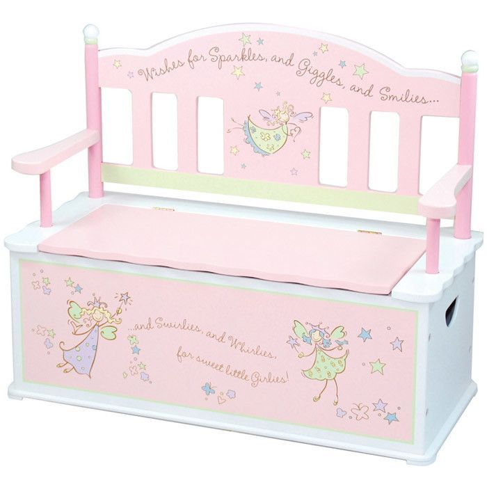 Fairy Wishes Bench With Storage Kids Storage Bench Storage