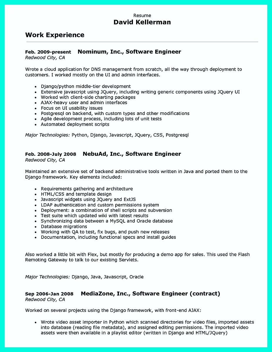 cool Computer Programmer Resume Examples to Impress Employers ...