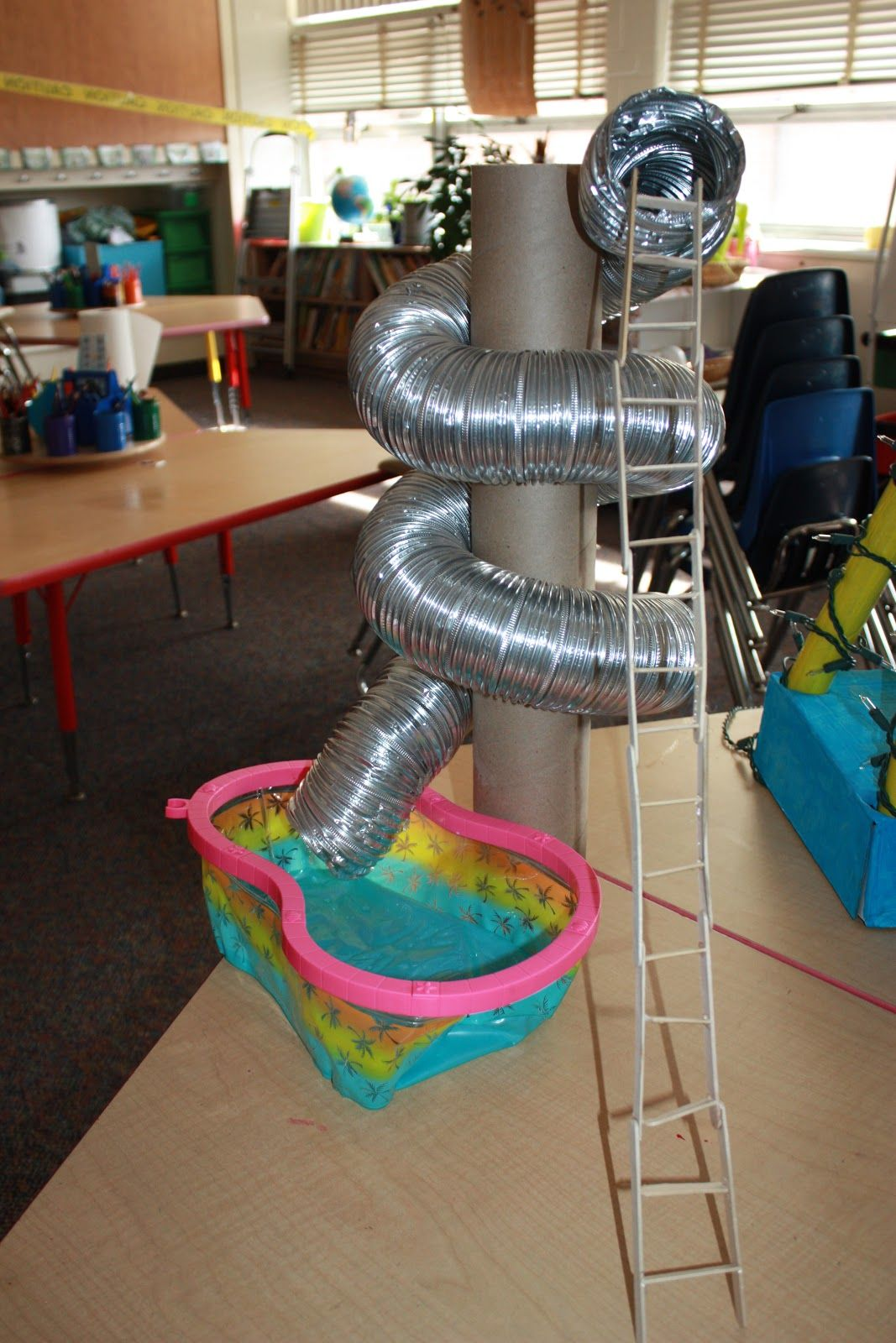 Screw Simple Machine Water Slide