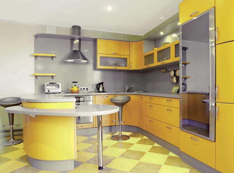 Mobili Da Cucina Giallo.50 Foto Di Cucine Moderne Con Penisola Mobila De Bucatarie