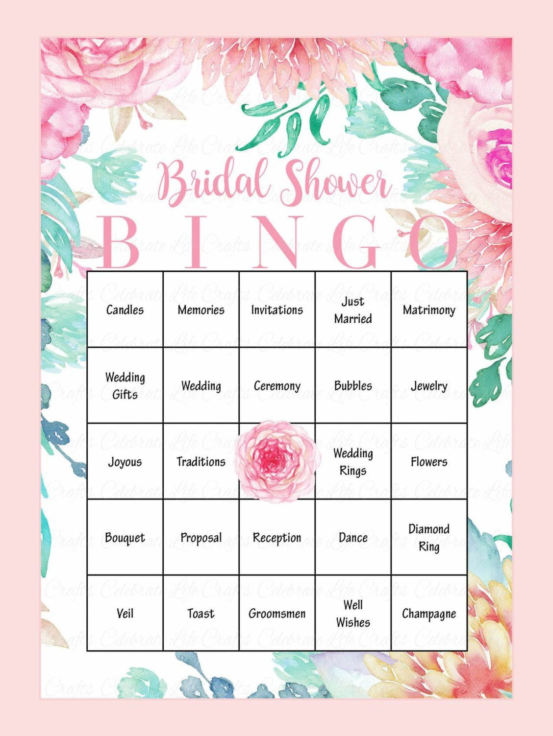 graphic relating to Printable Bridal Bingo named 10 Printable Bridal Shower Online games Yourself Can Do it yourself Marriage ceremony Enjoyment