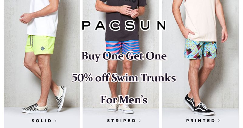 51743bd675 Buy One Get One 50% off Swim Trunks For Men's at #PacSun #Shorts #Clothing # Mens #Fashion #Styles