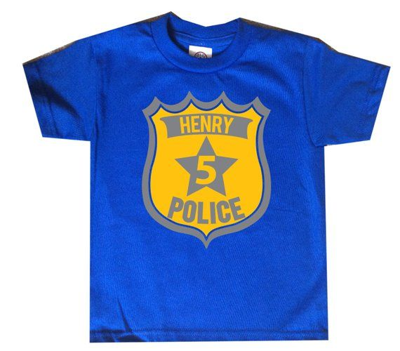 Police Badge Personalized Birthday Shirt