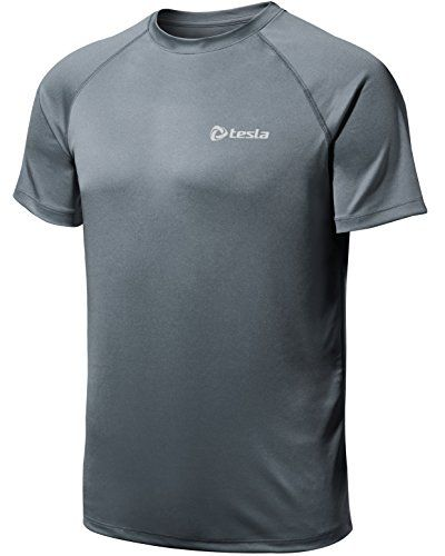 aef1aa30 TMMTS03DGZ_Large Tesla Mens Lightweight HyperDri Cool T Shirt Running Short  Sleeve Top MTS03 *** Read more at the image link. (This is an affiliate  link) # ...