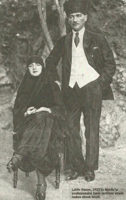 مصطفى كمال اتاتورك وزوجته لطيفة اوشاكي Fotograf Kara Buyu Nadide Fotograflar