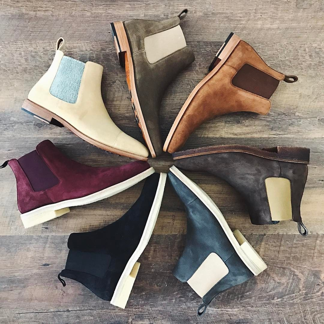 "Instagram post by Taft • Feb 28, 2017 at 1051pm UTC is part of Chelsea boots - 4,288 Likes, 98 Comments  Taft (@taft) on Instagram ""Taste the Rainbow 👞 Suede and Chelsea boots are a nice combo 👌🏽 weartaft"""
