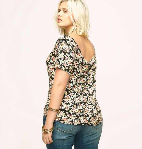 177eb59af599c Get sexy summer looks like our new plus size Wide Neck Floral Tee available  in sizes 1x-3x online at loralette.com. Avenue Store