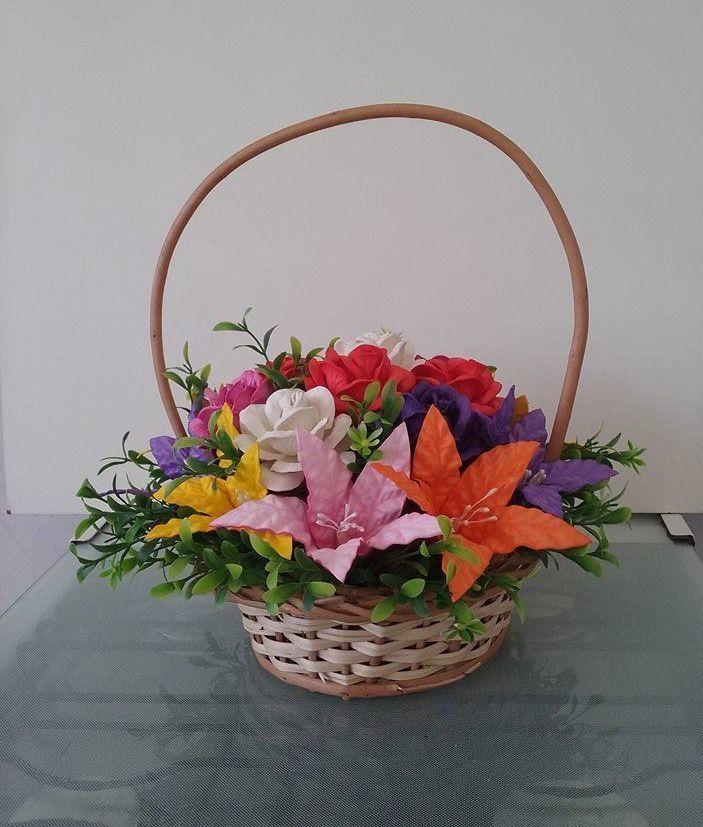 Arranjo De Flores Em Eva Cesta De Flores Flores Em Eva